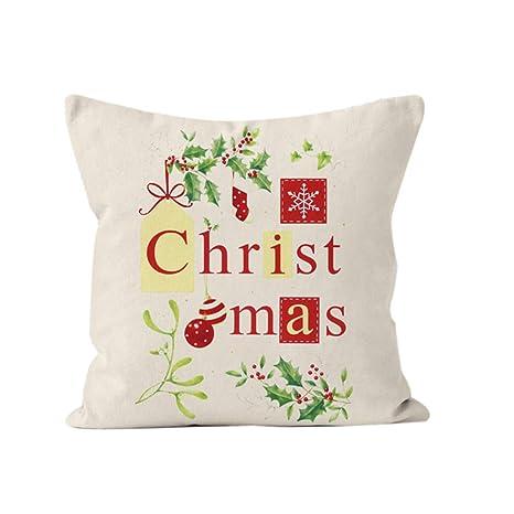 Cupcinu Funda de Almohada de Navidad Funda de cojín de sofá ...