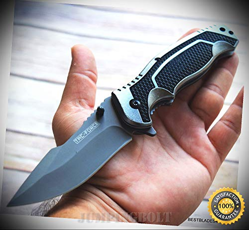 8.5 INCH SPRING ASSISTED SHARP KNIFE WITH POCKET CLIP - Premium Quality Hunting Very Sharp EMT EDC