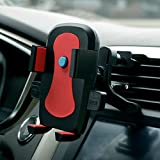 induction charger ipad - Car Phone Mount,One-hand Design Car Phone Holder for iPhone X 8/8Plus/7/7Plus/6s/6Plus/5S, Galaxy S5/S6/S7/S8,S8Plus, Google Nexus, LG, Huawei and More-Red
