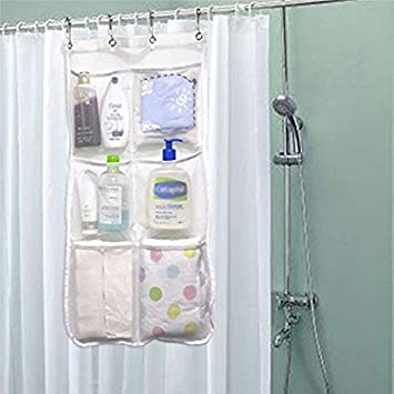 Shower Curtain Caddy 6 Pockets Loading 25LB