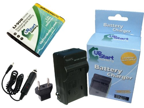 Olympus SP-815UZ Battery and Charger with Car Plug and EU Adapter - Replacement for Olympus LI-50B Digital Camera Batteries and Chargers - Compatible With Olympus XZ-1, Stylus SZ-15, SZ-12, VR-340, XZ-10, VR-370, SP-800UZ, SZ-14, Stylus SZ-16, Stylus Tough 6020