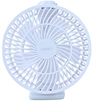 SENPAIC Clip on Fan USB Operated Desk Table Personal Fan,Quietness Adjustable Speed, White