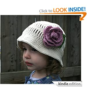 Crochet Pattern floppy summer hat with rose (67) (Crochet hats) Luz Mendoza