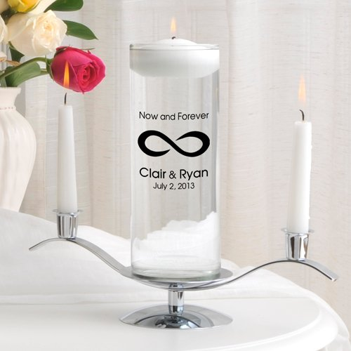 Personalized Floating Wedding Unity Candle Set- Now and Forever by A Gift Personalized (Image #1)