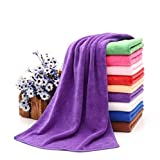 Camping Microfibre Towel Premium Quality Light Weight - Large Bath Size - Purple