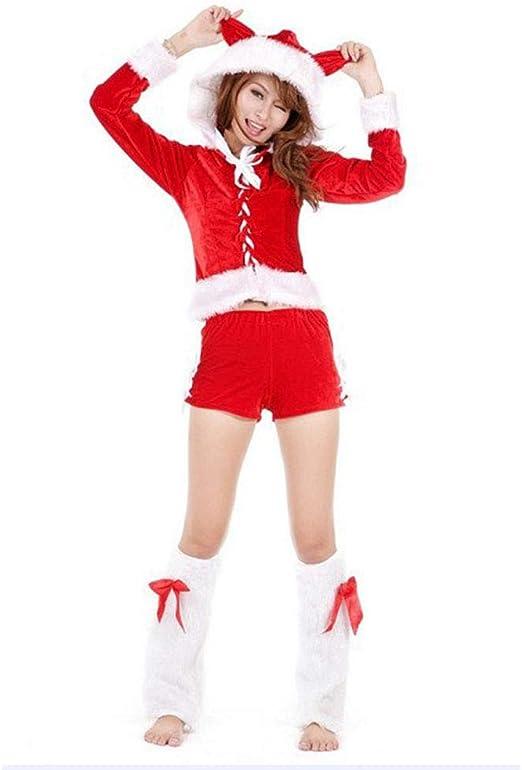 Disfraz de Halloween Mujer, Traje de Navidad Rojo Shorts Traje de ...