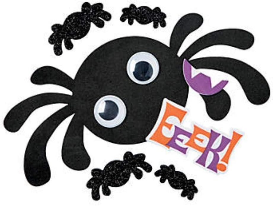 Goofy Spider Halloween Pumpkin Decorating Craft Kit 12 Childrens Halloween Craft Kits