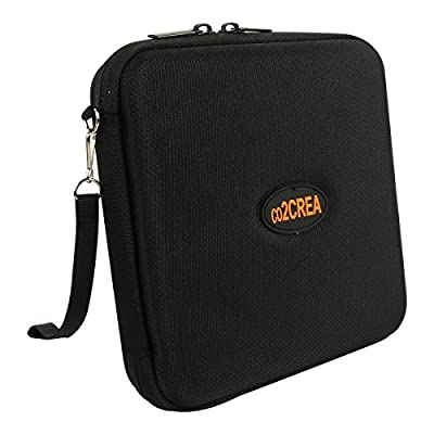 co2CREA Hard EVA Storage Carrying Travel Case Bag for External DVD, CD, Blu-ray Rewriter / Writer and Optical Drives Apple LG Dell