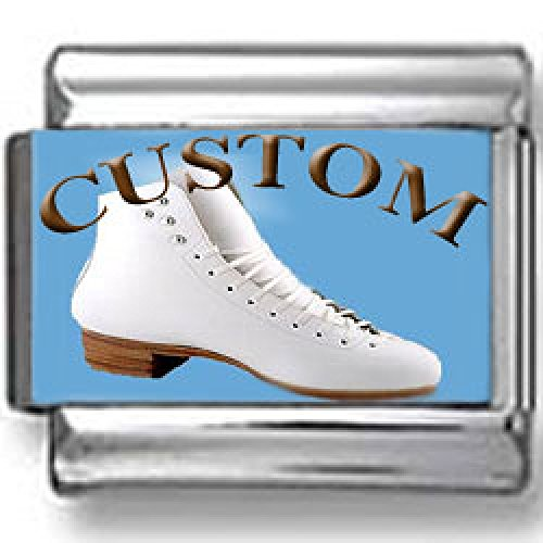 (Custom Ice Skate Photo Italian Charm )