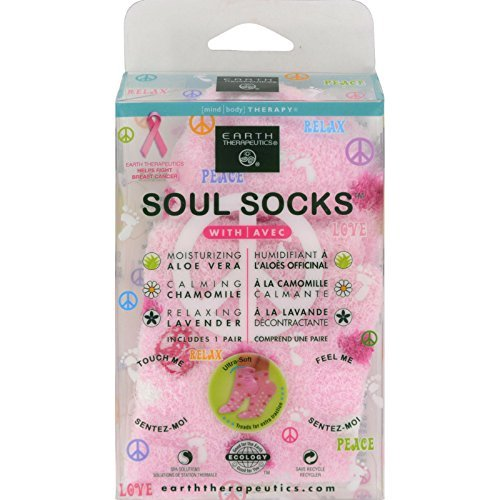 Earth Therapeutics Soul Socks Pink Polka Dot Pair by Earth Therapeutics