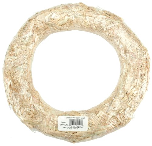 FloraCraft Straw Wreaths, 8-Inch Straw Wreath