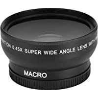 Tosuny 0.45x Lente Gran Angular con Macro de Primer Plano con Bolsa PU Universal para cámara Canon Nikon Sony, 52mm