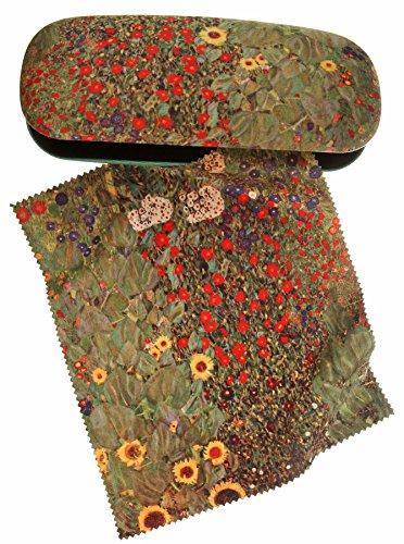 Set étui à lunettes et chiffon de nettoyage Klimt–Agriculteurs Jardin Vert de Artis Vivendi
