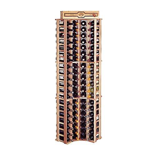 Wine Cellar Innovations Traditional Redwood Curved Corner Wine Rack