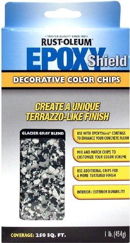 Rust-Oleum 238471 EPOXYShield Decorative Color Chips, Glacier Gray (Epoxyshield Concrete)
