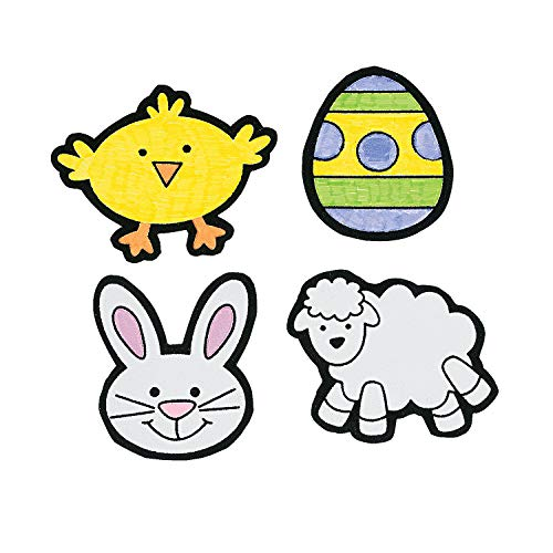 Fun Express - Cyo Fuzzy Easter Magnets for Easter - Craft Kits - CYO - Fuzzy - Magnets - Easter - 12 Pieces