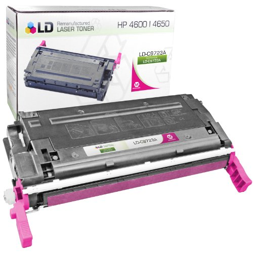 C9723a Magenta Remanufactured Toner (LD Remanufactured Replacement Laser Toner Cartridge for Hewlett Packard C9723A (HP 641A) Magenta)
