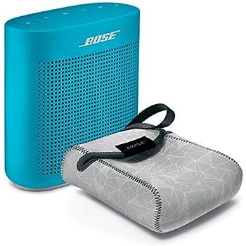 Bose SoundLink Color Bluetooth Speaker II - Aquatic Blue & Reversible Case - Bundle