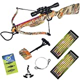150 lb Autumn Camouflage Hunting Crossbow Bow +4x32 Scope +14 Arrows +Quiver +3 Broadhead +Rope Cocking Device +Stringer