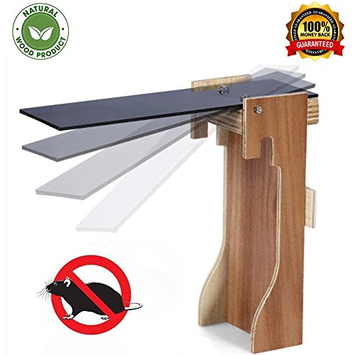 Glorious Natural - Walk The Plank Mouse Trap from Natural Wood - Best Mouse Catcher Auto Reset - Humane Bucket Rat Trap - Mice\Rat Trap Snap Humane Rodent Killer - Kill or Live Catch Mice & Other Pests Rodents (natural)