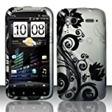 BLACK VINES Hard Plastic Cover Design Matte Case for HTC Sensation 4G + Screen Protector + Car Charger [In Twisted Tech Retail Packaging]