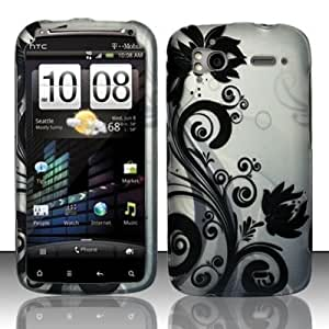 BLACK VINES Hard Plastic Cover Design Matte Case for HTC Sensation 4G [In Twisted Tech Retail Packaging]