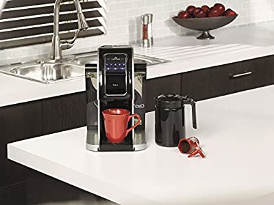 Touch Plus Single Serve Coffee Brewer w/ Jumbo Cup & Carafe - Black / Silver Coffee Maker with Full K-Cup Pod Compatibility & Rapid Brew Technology - T526S
