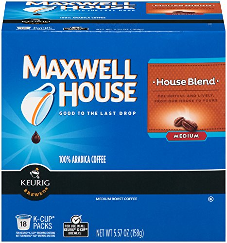 MAXWELL Firm House Blend Coffee, K-CUP Pods, 18 count