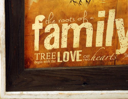 The Roots of a Family Tree Begin With Love - Art Print in Brown Wash Frame