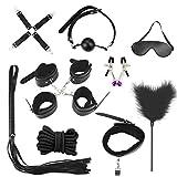 TissueDeep 10pcs Hand Cuffs Kit (Black) (10pcs Black)