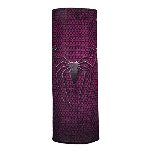 Autofy Unisex Spider Print Lycra Headwrap for Bikes (Black and Pink, Free Size)