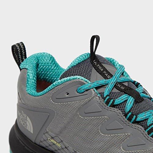 The North Face W Ultra FP III GTX, Chaussures de Fitness Femme Gris (Zinc Grey/Porcelain Green 4hu)