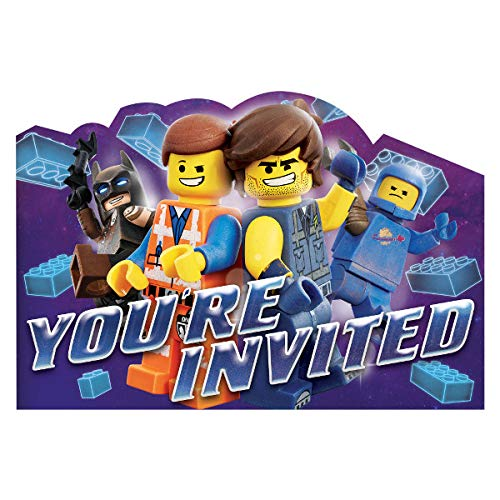 Amscan The Lego Movie 2 Postcard Invitations Childrens Party -