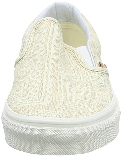Vans - Classic Slip-on, Zapatillas Unisex adulto, Multicolor (stripes/navy), 35 EU Beige (pacific Isle/natural/blanc De Blanc)