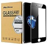 MuStone [2 Pack Screen Protectors for iPhone 7 plus iPhone 8 plus, 3D Full Screen Frame Edge to Edge Tempered Glass Edge for iPhone 7 Plus 8 Plus Tempered Glass Screen Protectors 5.5'' (Black)
