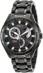 "Citizen Men's BL8097-52E Eco-Drive ""Calibre 8700"" Black Ion-Plated Stainless Steel Watch"