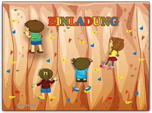 Einladungskarten Kindergeburtstag Klettern Einladung: Amazon.de: Bürobedarf  U0026 Schreibwaren