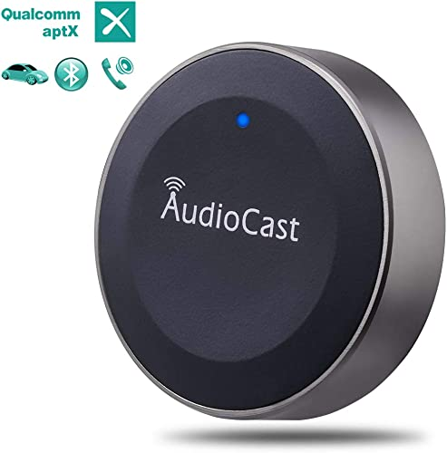 Audiocast Bluetooth Car Kit, Bluetooth Receiver, Car Bluetooth Adapter Wireless Music Receiver Audio Adapter Hands-Free Call 3.5mm Aux A2DP Aptx HiFi Stereo Output for Home Car System, Spotify, Pandora, Speaker
