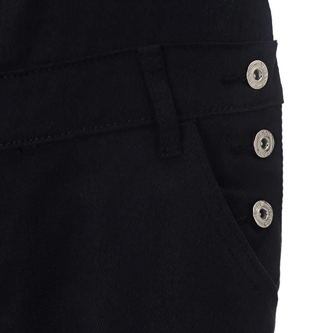 6c9cfaa93fba Amazon.com  Ankola Denim Bib Overall Women s Casual Denim Bib Cropped Overalls  Pant Jeans Jumpsuits  Sports   Outdoors