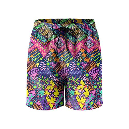 - HUASDIS Mystical Boho Fashion Man Shorts Polyester Quick Dry Hiking Swim Trunks