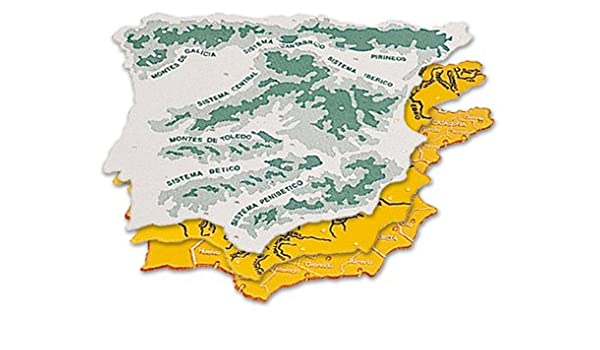 Pack 3 Plantillas de plástico Mapa España 22x18cm: Amazon.es: Oficina y papelería