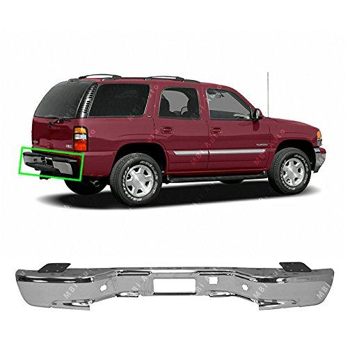 - MBI AUTO - Chrome, Steel Rear Bumper Face Bar for 2000-2006 Chevy Suburban Tahoe & GMC Yukon 00-06, GM1102542