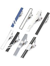 Men Tie Bar Clip Set for 2.1 Inch Metal Clasps Business...
