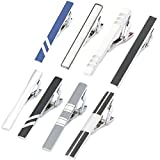 GWD Men Tie Bar Clip Set for 2.1 Inch Metal Clasps Business Fashion (Style A)