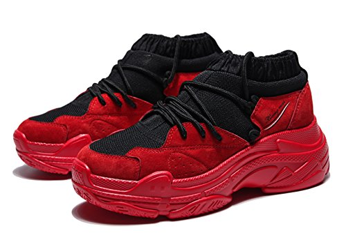 Rouge Femme Chaussons Course Running Cuir Basses Baskets Homme Sneakers Gym De Ubeauty Chaussure Sport Fitness ZwSqW