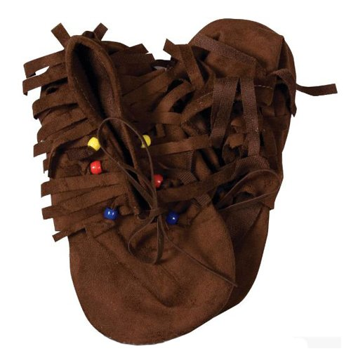 Forum Novelties Child's Native American/Hippie Novelty (Pocahontas Costume Shoes)