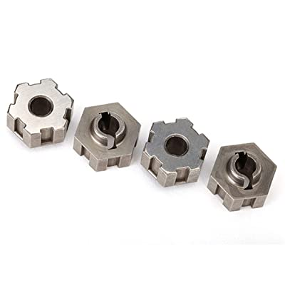 Traxxas 8568 Steel Wheel Hex Hubs, Gray: Toys & Games