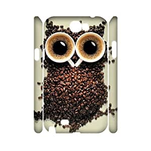 Owl Customized 3D Cover Case for Samsung Galaxy Note 2 N7100,custom phone case ygtg527986