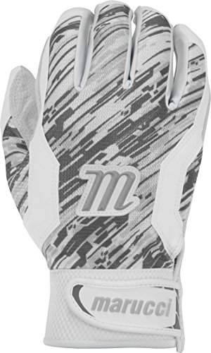 Marucci Adult Quest Baseball Batting Gloves, Gray, Small