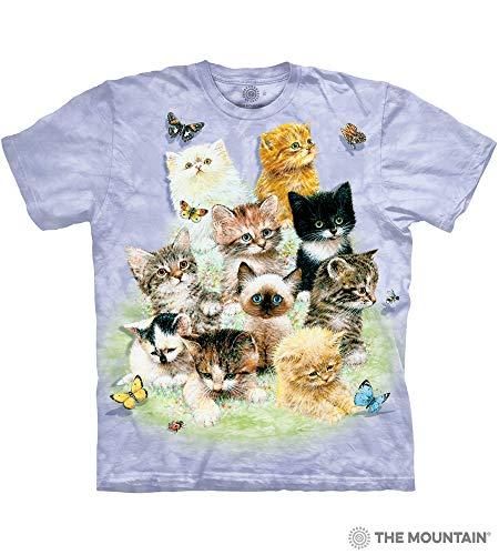 (The Mountain Adult Unisex T-Shirt - 10 Kittens XL)